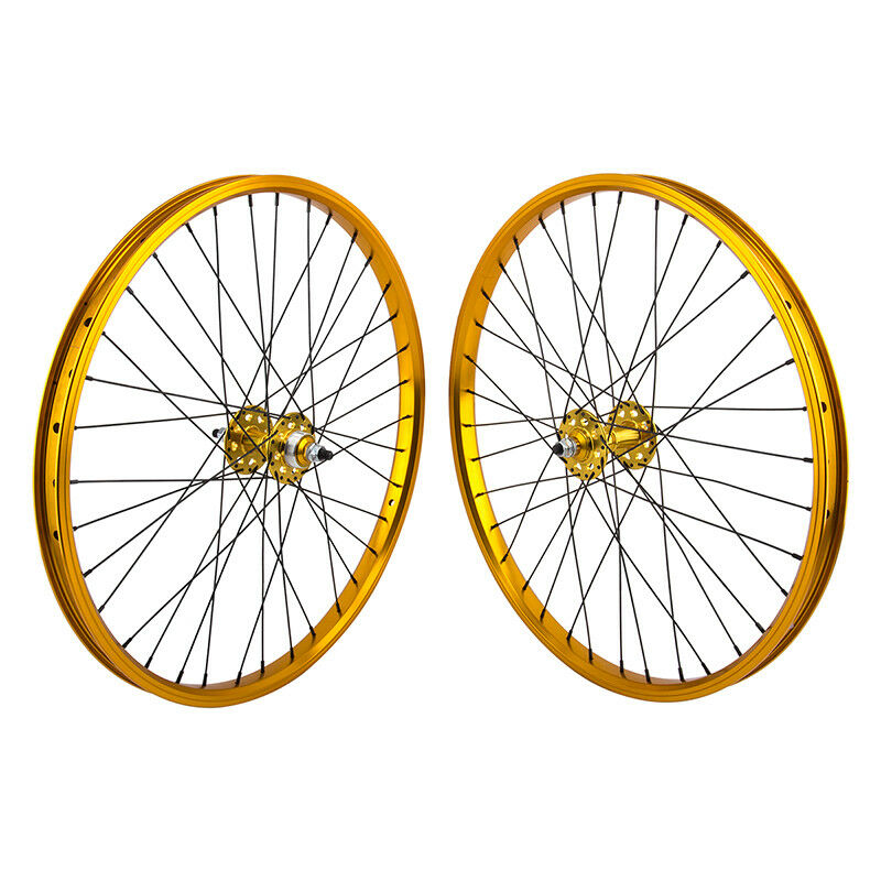 SE Racing Wheelset - 24  - 36H - gold - Double Wall - Sealed Bearing - FW