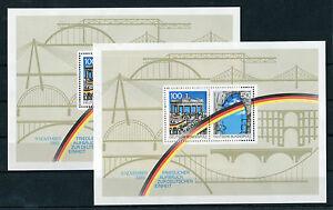 Bund-Block-22-postfrisch-2-Stueck-1990-BRD-1-Jahrestag-Grenz-Offnung-MNH