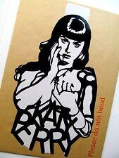 "KATY PERRY,Original Pop Art, Music Celebrities 6""X11"" Vinyl Sticker Portrait"