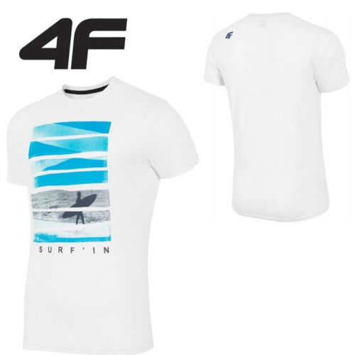 NEW 4F-Mens Short Sleeve Fitness Gym Runing T-Shirt Active Sports COTTON ***2016