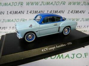 4CV6A Car 1//43 Eligor Hatchets Renault 4CV N°12 Autobleu 1956