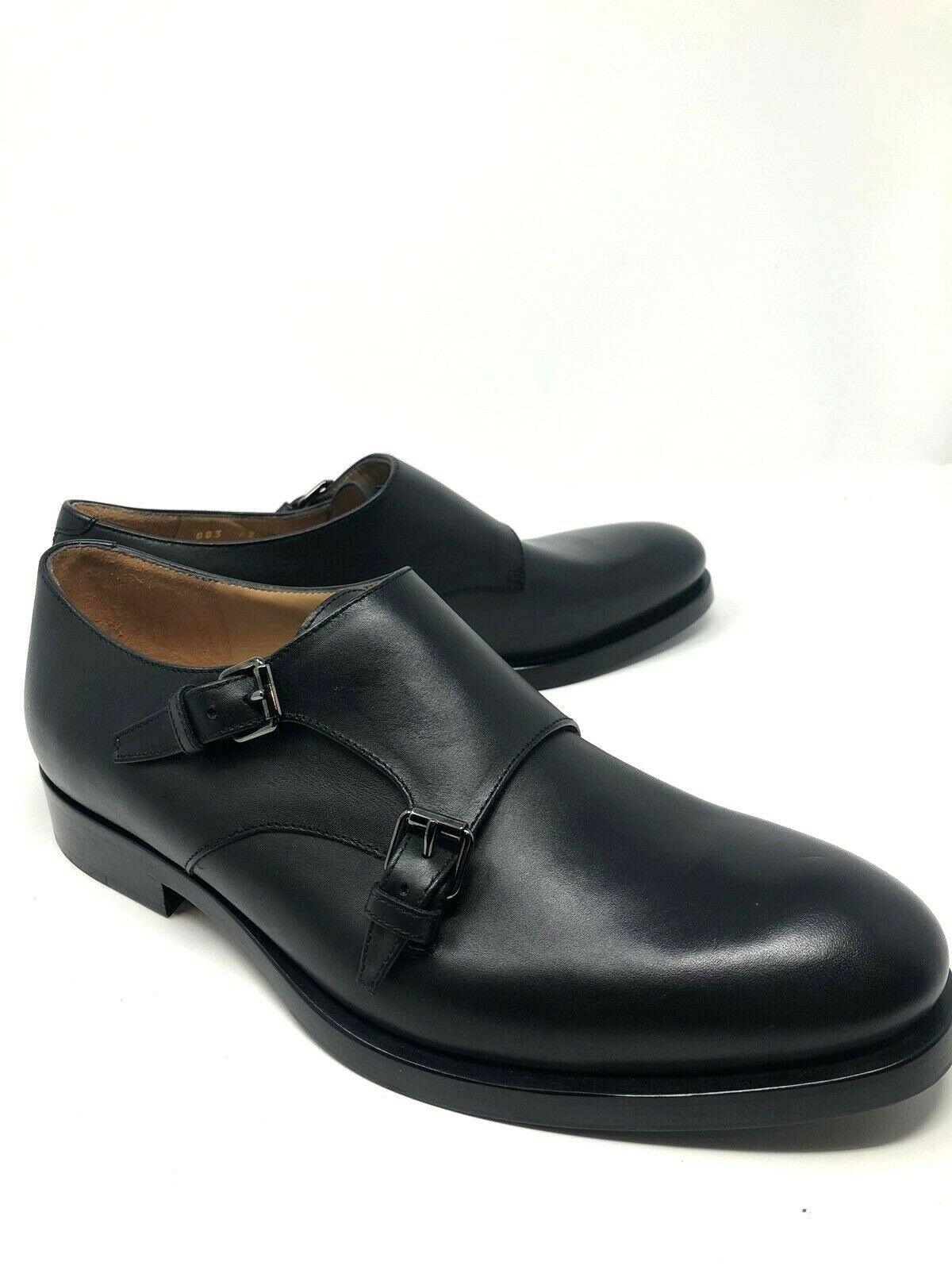 Nueva Valentino GARAVANI HOMBRES Zapatos Negros Doble Munk EE. UU. 8 Reino Unido 42 UE
