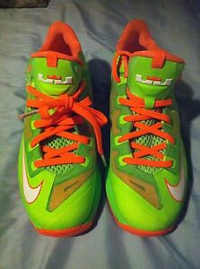9dc675f41653 Youth Nike Air Max LeBron XI 11 Low GS Shoes sz 6.5Y Electric Green ...