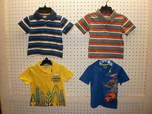 312348961 TOUGHSKINS Infant Boy's Stripe OR Graphics Cotton SS Polo Shirts ...