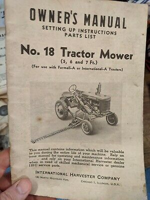 International Harvester 1100 Mower Parts Manual Patio, Lawn ...