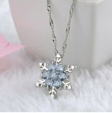 Fashion Snow Chunky Crystal Statement Bib Chain Choker Pendant Necklace Jewelry
