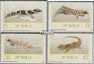 complete Issue Unmounted Mint Never Hinged 1989 Geckos Trend Mark Zimbabwe 396-399