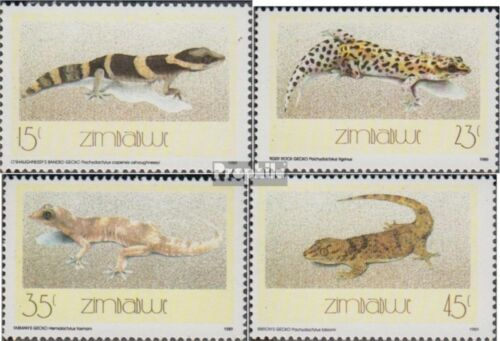 zimbabwe 396399 complete issue unmounted mint never hinged 1989 Geckos