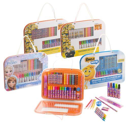 Disney Kids 37pc Art Set de voyage case Dessin Crayon Marqueur Crayon Coloriage Fun