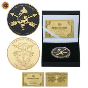 WR-U-S-Special-Forces-Army-Collectors-Coin-In-Box-18th-21st-Kids-Birthday-Gifts