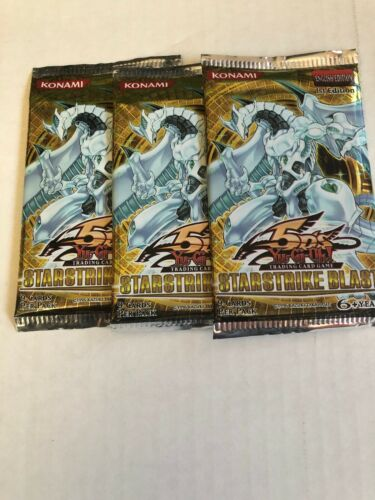 Yugioh 3x Starstrike Blast Booster Packs Factory Sealed First Edition!