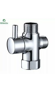 Shower Head Diverter Valve.Details About 3 Way Shower Head Diverter Valve Sprayer Arm Mount G1 2 T Adapter Brass Diverter