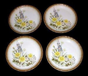 Incredible Details About 4 Vtg Mikasa Manor House Garden Floral Raised Flowers Deep Dinner Plates Unused Download Free Architecture Designs Rallybritishbridgeorg