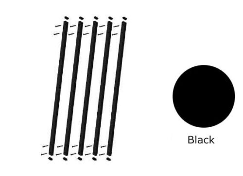 32 in x 1 in Aluminum Black Face Mount Deck Railing Baluster