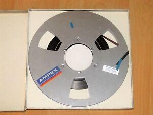 Metal-Reel-Tape-Ampex-Precision-Magnetic-Tape-26-5-Grandmaster-456-Box