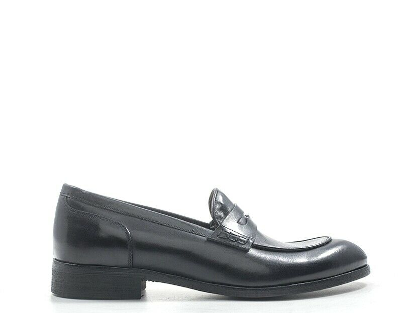 Chaussures voitureattere Italiano Homme noir Nature Cuir 2081-ne