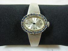 835er Silber Damen Armbanduhr Fa. Reno, 28 safir, 32 gr., läuft, der Ziffernblat
