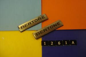 PAIR-BERTONE-CHROME-amp-BLACK-PLASTIC-BADGES-EMBLEMS-VAUXHALL-OPEL