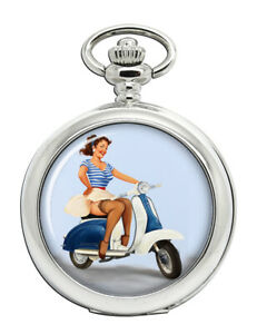 Pin-up-Scooter-Girl-Pocket-Watch