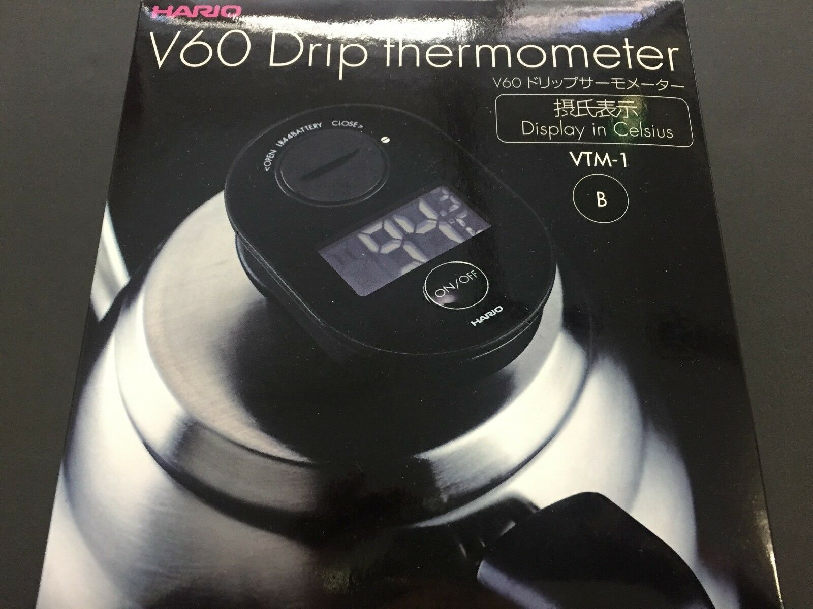Hario V60 Mouth Hand Drip Coffee Thermometer VTM-1B VKB-100 VKB-120 EVKB-80