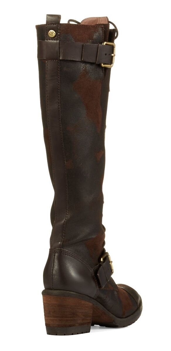 Donald Distressed J Pliner Dnali Lace-Up Stiefel Distressed Donald Knee-High Tall Espresso 5.5  398 c71407