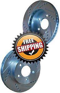 Chevy S10 2WD 04 Drill Slot Brake Disc Rotors REAR