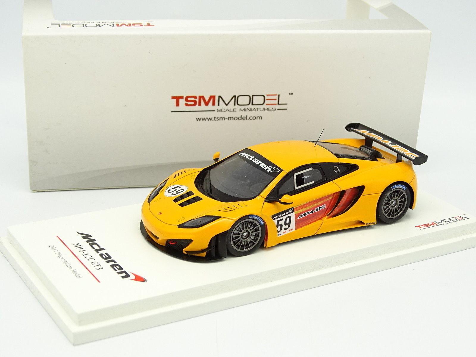Disfruta de un 50% de descuento. True True True Scale Model TSM 1 43 - McLaren MP4 12C GT3 Presentation N°59 2011  venta al por mayor barato
