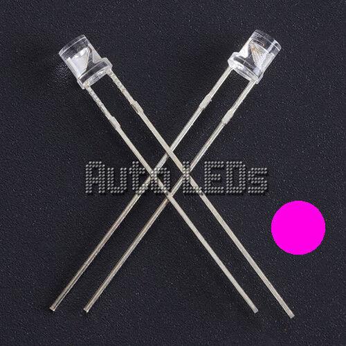 15 x LED ROSA 3mm Flat Top-Super Luminosi