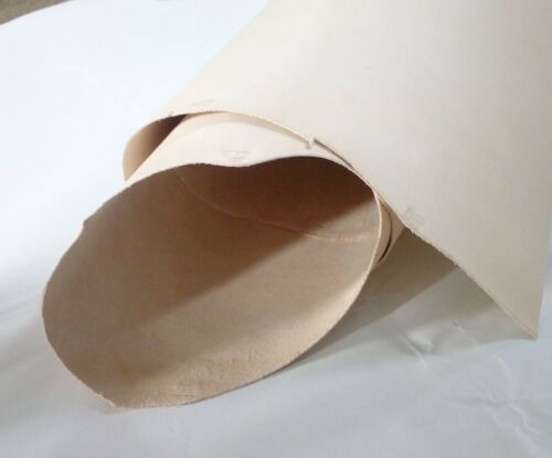 """24/"""" X 12/"""" 60x30 NATURAL VEG TAN CRAFT LEATHER HIDE CHOOSE YOUR THICKNESS cm"""