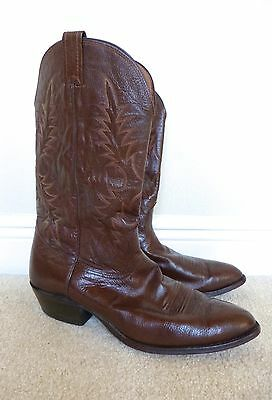 Nocona Mens Western Cowboy Brown Leather Boots Size 12