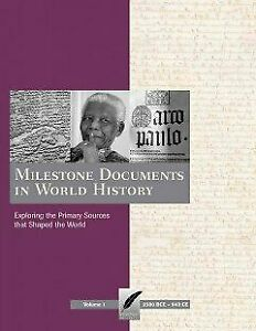 Milestone Documents in World History : Exploring the ...