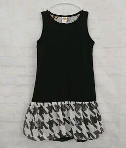 fe5681b964762 Harajuku Mini Black White Sequin Bubble Hem Party Dress Girls Medium ...
