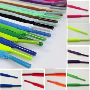 Unisexe-Paire-Lacet-Plats-Colore-Cordons-Sport-Chaussure-Toile-Lacets-Shoelaces