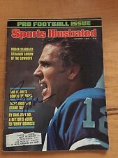 Roger Staubach Signed Sports Illustrated