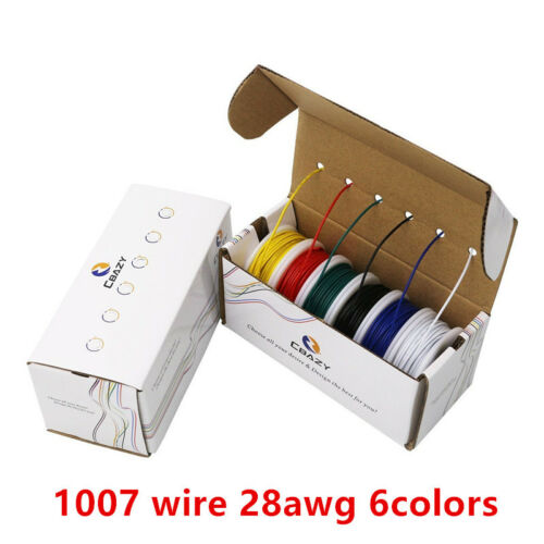 UL 1007 28AWG Each roll 10 meters Airline Cable Line Electric Wire Tinned copper