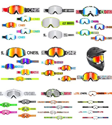 Two-X Race Crossbrille Mx Enduro Quad OCCHIALI CROSS DOWNHILL chiaro a specchio