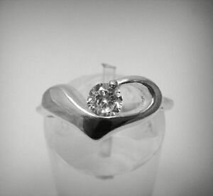 STYLISH-STERLING-SILVER-RING-SOLID-925-HEART-4mm-CZ-SIZE-G-Z-R000517-EMPRESS