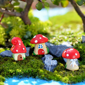 Mini 20x Pilz Garten Ornament Miniatur Blumentopf Fee DIY Dollhouse WRDE