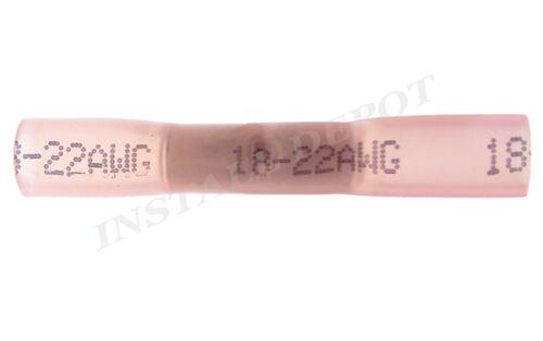 100 3M HEAT SHRINK BUTT CONNECTORS MARINE WIRE 22-18 GA