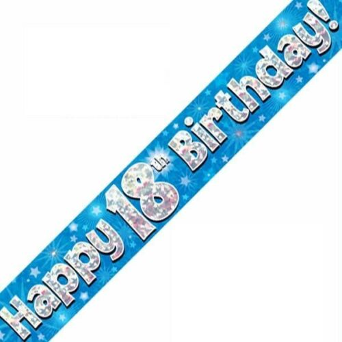18th Birthday Flags Buntings Banners Balloons Blue Party Decorations Age 18 Male