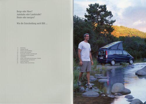 Mercedes Viano Marco Polo Prospekt 3//03 2003 Reisemobil Wohnmobil Camper