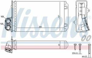 Nissens (72935) Wärmetauscher, Innenraumheizung für PEUGEOT
