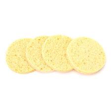 4PCS Natural Wood Fiber Face Wash Cleansing Sponge Makeup Puff Pad Healthy