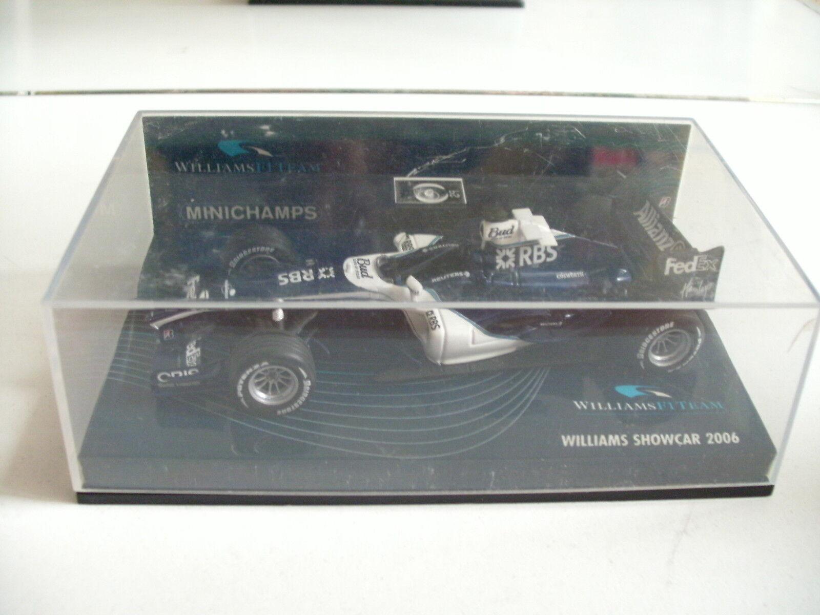 Minichamps f1 - formel - 2006 1 - williams showcar 2006 - in blau auf 1 43 im kasten 35fdd9