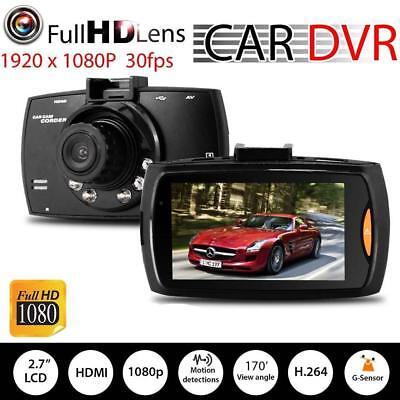 "720P 2.3/"" LCD Car Camera Full HD Dash Cam Crash DVR G-sensor Night Vision"