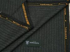 DORMEUIL 'BRITISH FLANNEL' BLACK/GREY WOOL SUITING FABRIC 3.5M - MADE IN ENGLAND