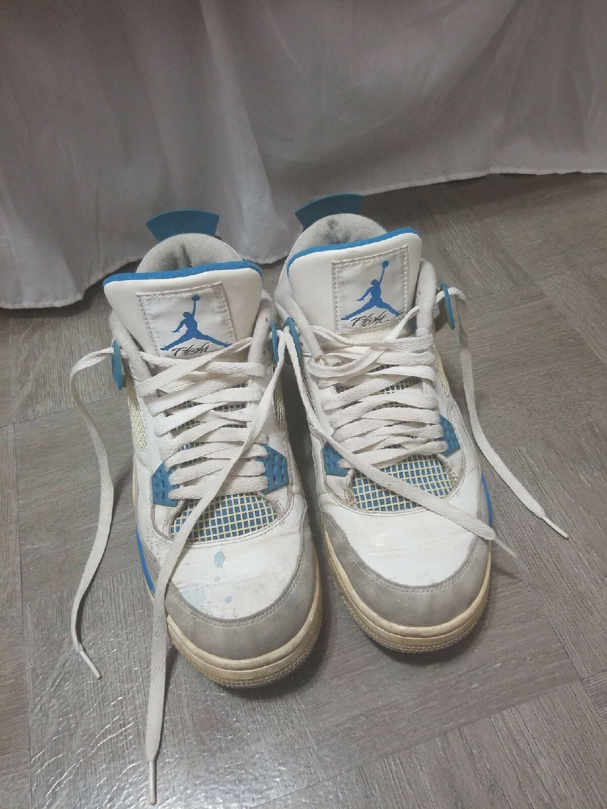 BEATER Jordan 4 Military blue size 10 Wild casual shoes