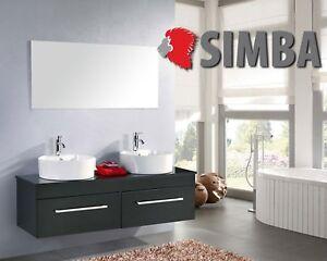Detalles de Muebles para baño para cuarto de baño espejo 150cm CARDELLINO  Grifos incl.