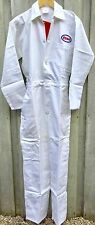 "RARE Goodwood Revival Classic Vintage Style White Esso Badged Overalls 36"" Chest"