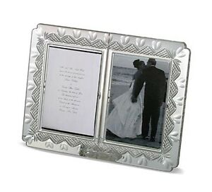WATERFORD Crystal Bridal Wedding Announcement Picture 4x6 Frame Hearts New